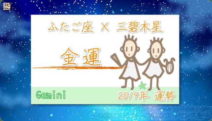 ふたご座×三碧木星の2019年の運勢【金運】