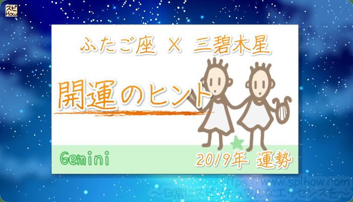 ふたご座×三碧木星の【2019年をHAPPYに過ごすためのヒント】