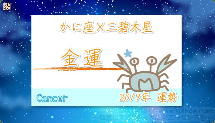 かに座×三碧木星の2019年の運勢【金運】