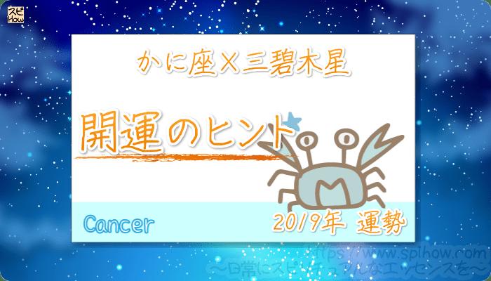 かに座×三碧木星の【2019年をHAPPYに過ごすためのヒント】