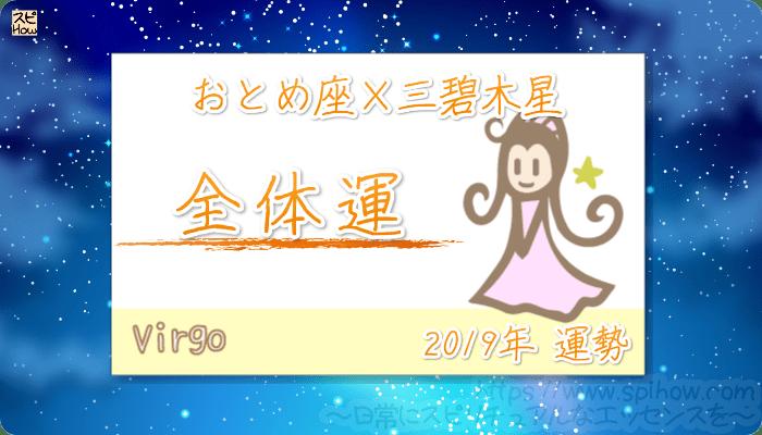 おとめ座×三碧木星の2019年の運勢【全体運】