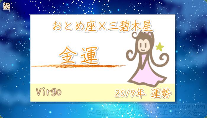 おとめ座×三碧木星の2019年の運勢【金運】