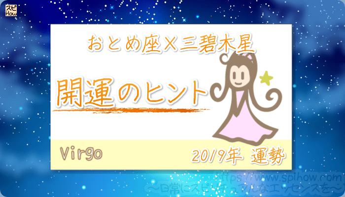 おとめ座×三碧木星の【2019年をHAPPYに過ごすためのヒント】