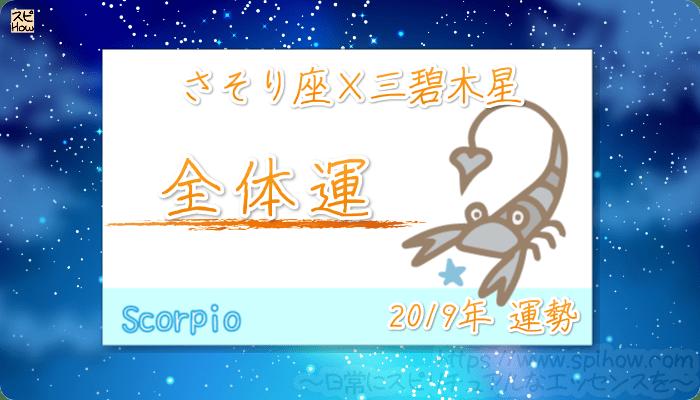 さそり座×三碧木星の2019年の運勢【全体運】