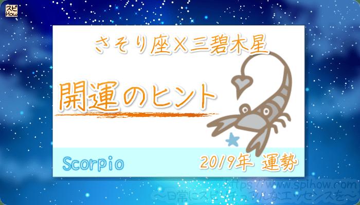 さそり座×三碧木星の【2019年をHAPPYに過ごすためのヒント】