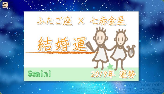 ふたご座×七赤金星の2019年の運勢【結婚運】