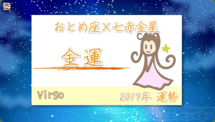 おとめ座×七赤金星の2019年の運勢【金運】