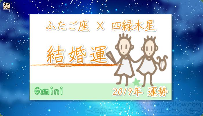ふたご座×四緑木星の2019年の運勢【結婚運】