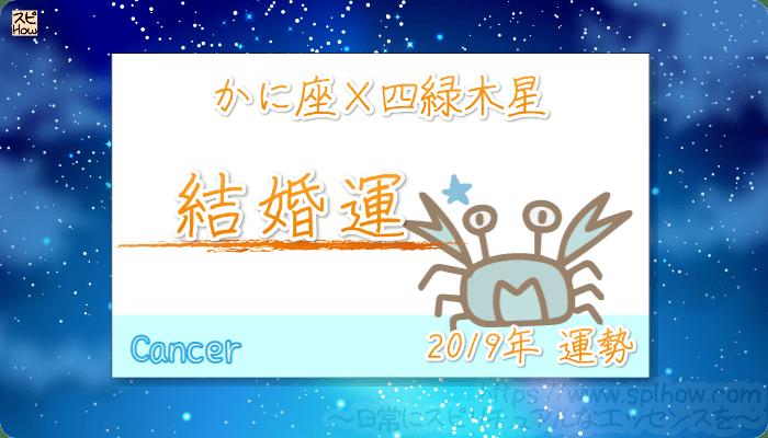 かに座×四緑木星の2019年の運勢【結婚運】