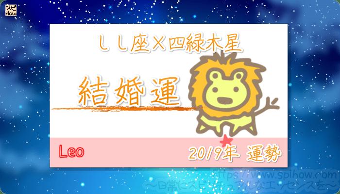 しし座×四緑木星の2019年の運勢【結婚運】