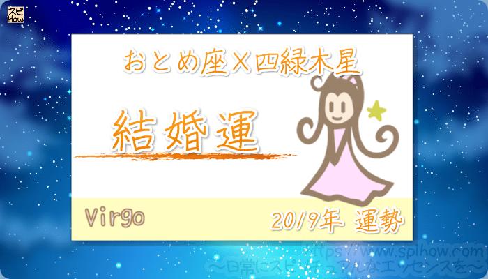 おとめ座×四緑木星の2019年の運勢【結婚運】