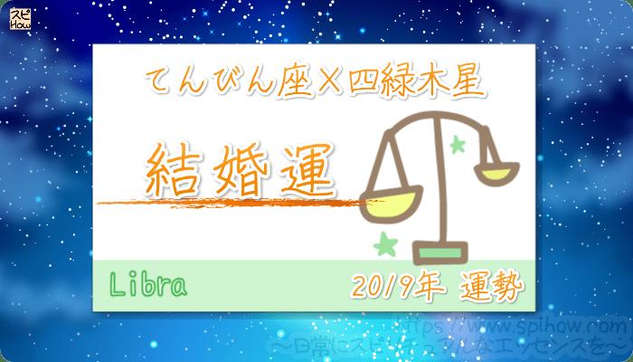 てんびん座×四緑木星の2019年の運勢【結婚運】