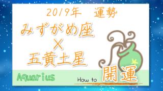 九星気学で占うみずがめ座×五黄土星の2019年の運勢