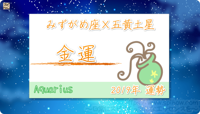 みずがめ座×五黄土星の2019年の運勢【金運】