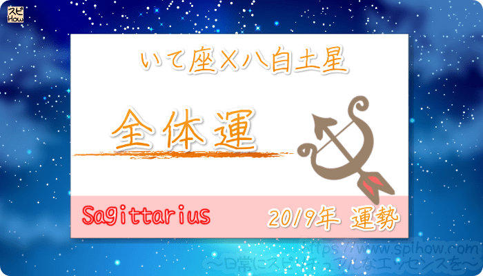 いて座×八白土星の2019年の運勢【全体運】