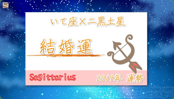 いて座×二黒土星の2019年の運勢【結婚運】