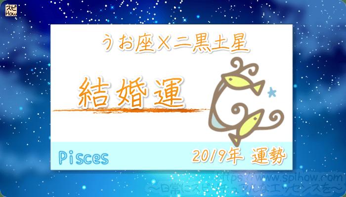 うお座×二黒土星の2019年の運勢【結婚運】