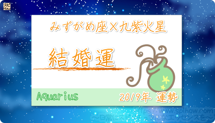 みずがめ座×九紫火星の2019年の運勢【結婚運】