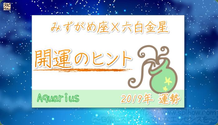 みずがめ座×六白金星の【2019年をHAPPYに過ごすためのヒント】
