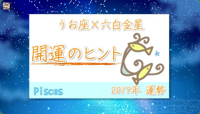 うお座×六白金星の【2019年をHAPPYに過ごすためのヒント】