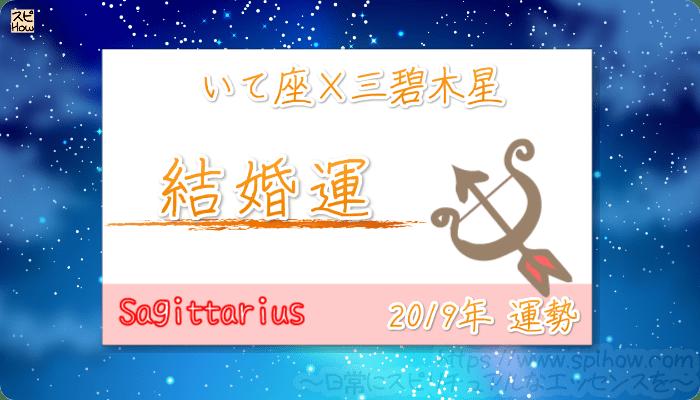 いて座×三碧木星の2019年の運勢【結婚運】