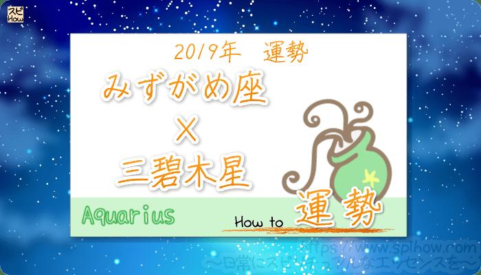九星気学で占うみずがめ座×三碧木星の2019年の運勢
