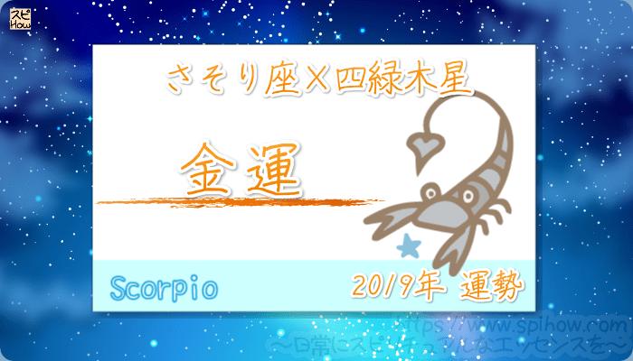 さそり座×四緑木星の2019年の運勢【金運】