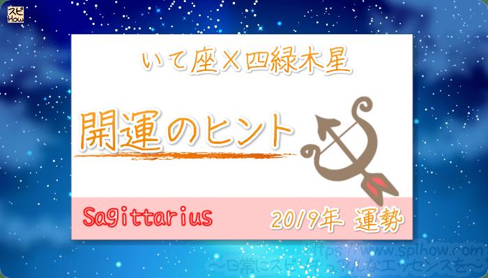いて座×四緑木星の【2019年をHAPPYに過ごすためのヒント】
