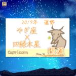 九星気学で占うやぎ座×四緑木星の2019年の運勢
