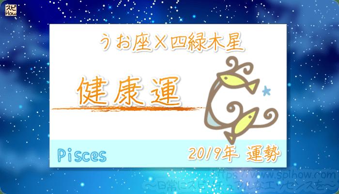 うお座×四緑木星の2019年の運勢【健康運】