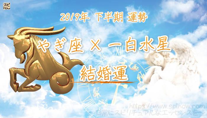 【結婚運】- やぎ座×一白水星の2019年下半期の運勢