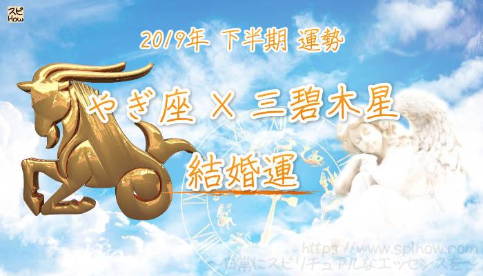 【結婚運】- やぎ座×三碧木星の2019年下半期の運勢