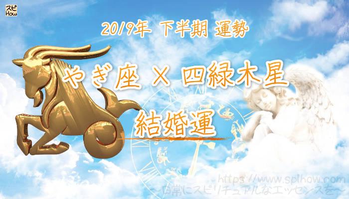 【結婚運】- やぎ座×四緑木星の2019年下半期の運勢