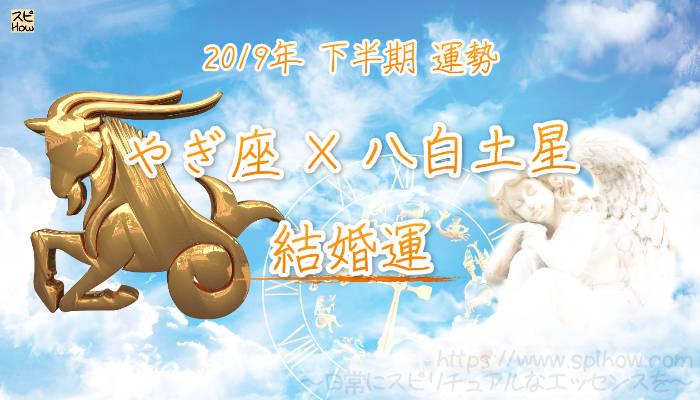 【結婚運】- やぎ座×八白土星の2019年下半期の運勢