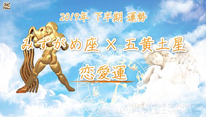 【恋愛運】- みずがめ座×五黄土星の2019年下半期の運勢
