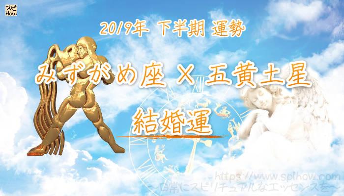 【結婚運】- みずがめ座×五黄土星の2019年下半期の運勢