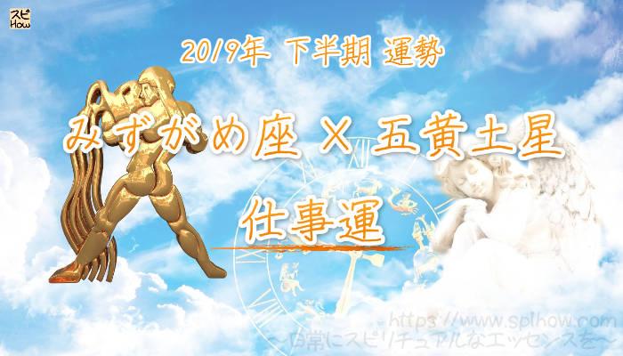 【仕事運】- みずがめ座×五黄土星の2019年下半期の運勢