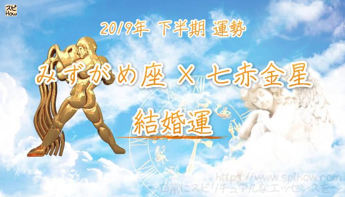 【結婚運】- みずがめ座×七赤金星の2019年下半期の運勢