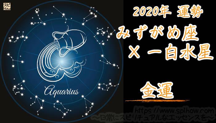 【金運】みずがめ座×一白水星【2020年】のアイキャッチ画像