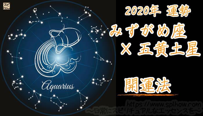 【開運アドバイス】みずがめ座×五黄土星【2020年】のアイキャッチ画像
