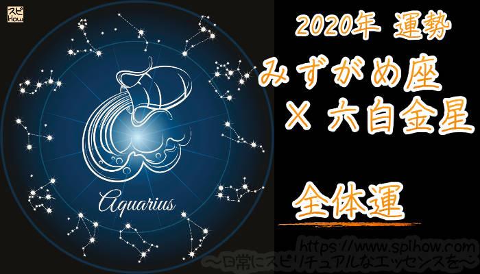 【全体運】みずがめ座×六白金星【2020年】のアイキャッチ画像