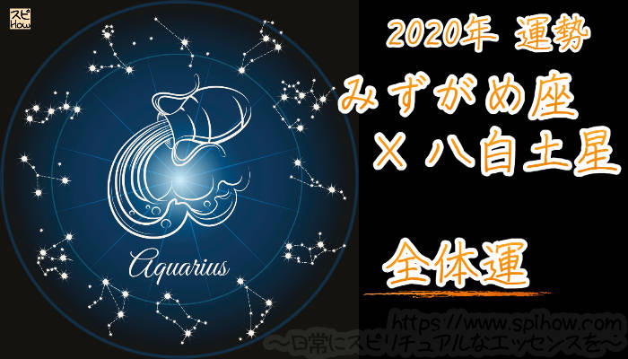 【全体運】みずがめ座×八白土星【2020年】のアイキャッチ画像