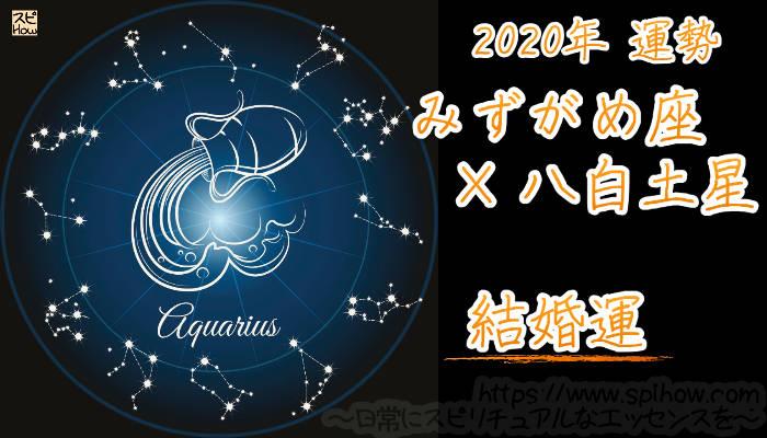 【結婚運】みずがめ座×八白土星【2020年】のアイキャッチ画像