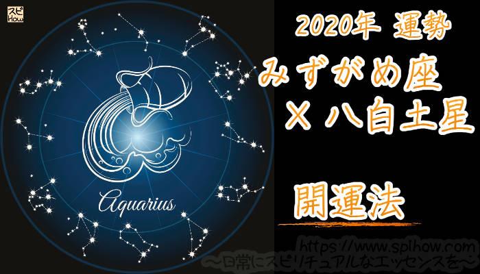【開運アドバイス】みずがめ座×八白土星【2020年】のアイキャッチ画像