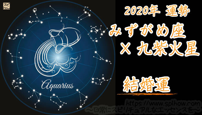 【結婚運】みずがめ座×九紫火星【2020年】のアイキャッチ画像