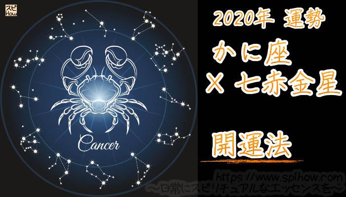 【開運アドバイス】かに座×七赤金星【2020年】のアイキャッチ画像