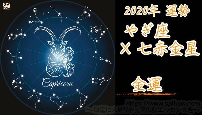 【金運】やぎ座×七赤金星【2020年】のアイキャッチ画像