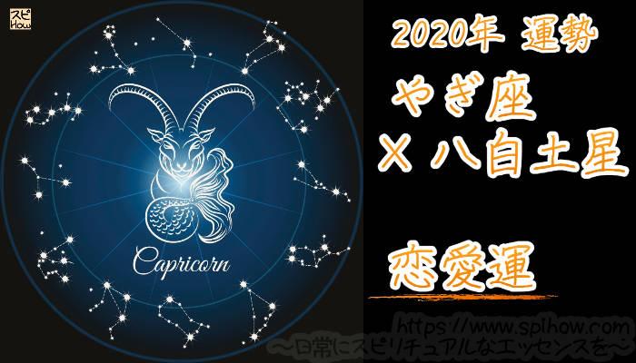 【恋愛運】やぎ座×八白土星【2020年】のアイキャッチ画像