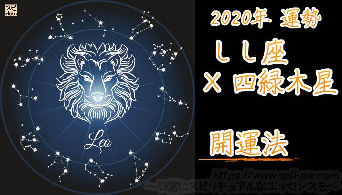 【開運アドバイス】しし座×四緑木星【2020年】のアイキャッチ画像