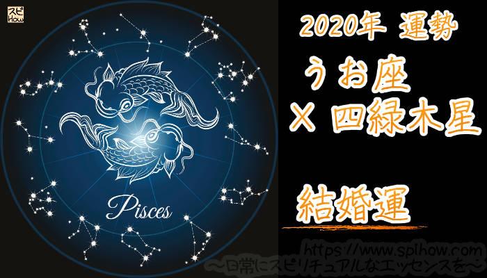 【結婚運】うお座×四緑木星【2020年】のアイキャッチ画像